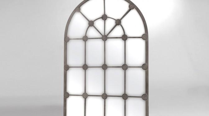 Belle forme en arcade pour ce miroir design