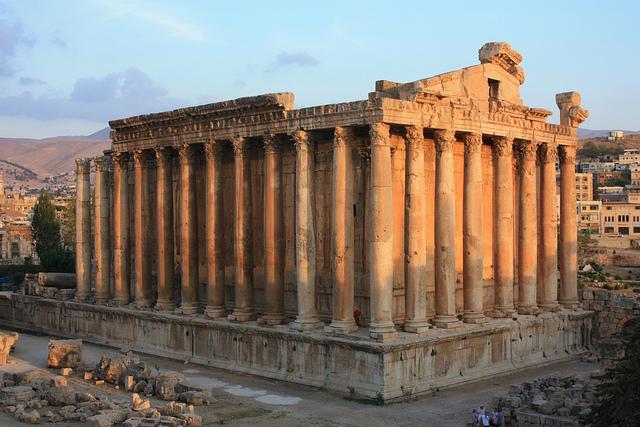 Temple de Bacchus au Liban